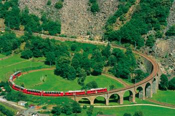 Bahn-Erlebnis Glacier- und Bernina-Express