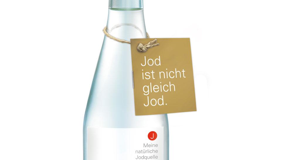 Natürliches Jod in Mineralwasser