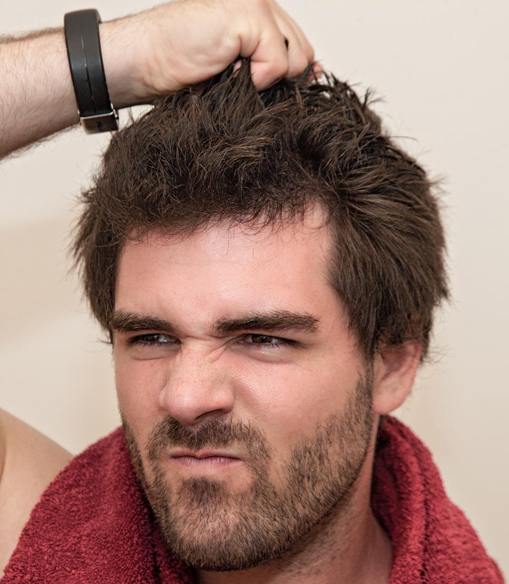 Stress und Haare
