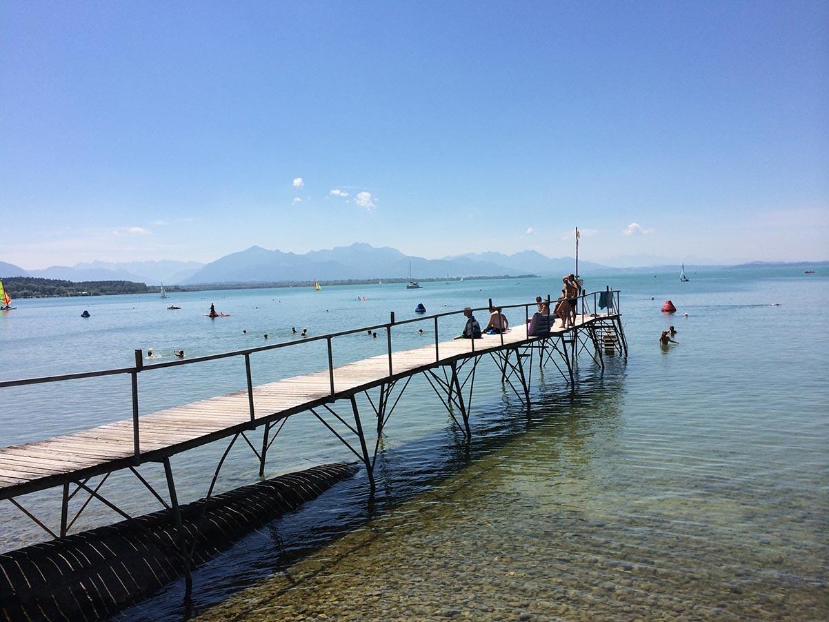 Vielfältiges Deutschland: Das Strandbad in Chieming