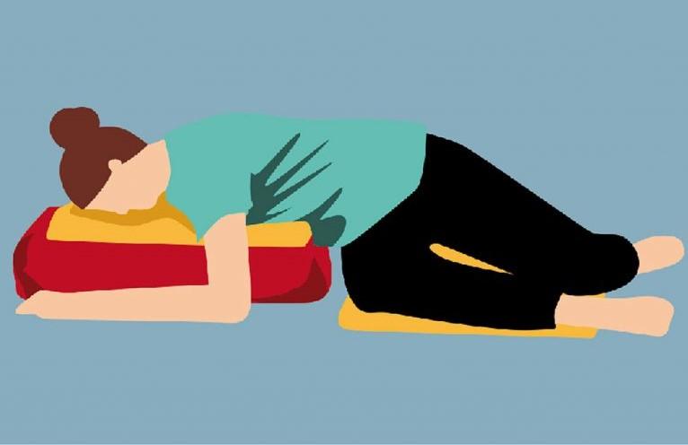 Yoga-Übung – Drehhaltung