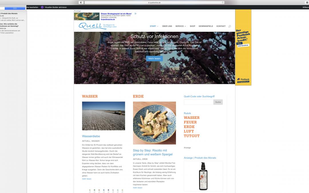 quellonline: Fundgrube in Sachen Nachhaltigkeit