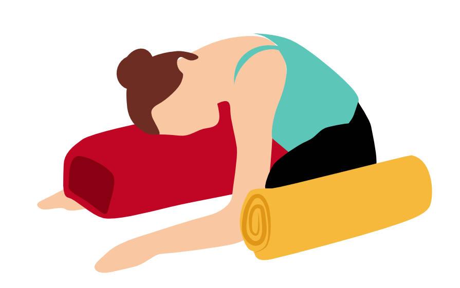 Yoga-Übung – Der Schmetterling