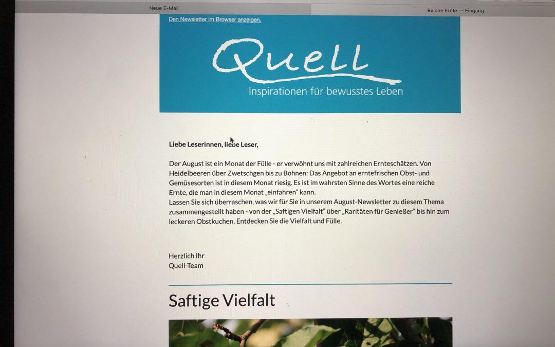 Unbezahlbar wertvoll: Der kostenlose Quell-Newsletter