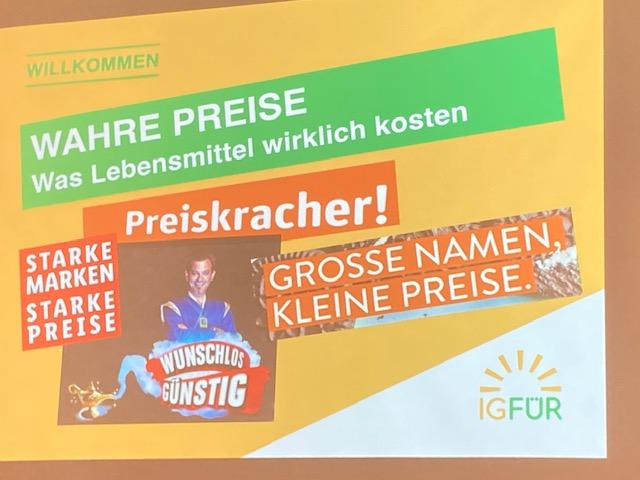 IG FÜR-Symposium: Von der Schwierigkeit, wahre Preise zu bestimmen