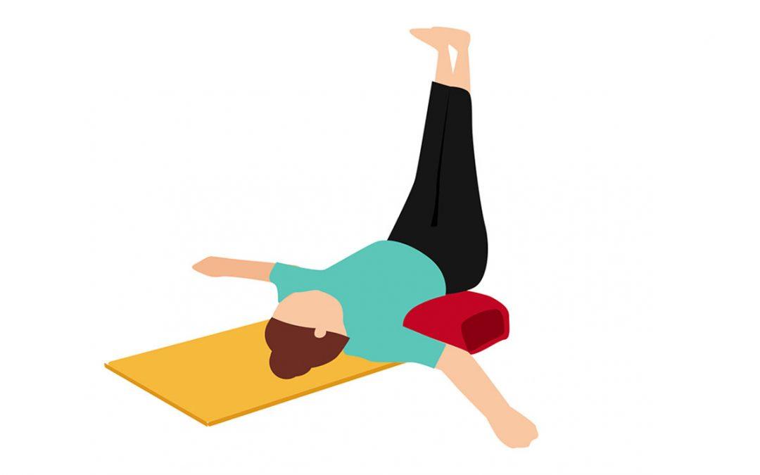 Yoga-Übung: Der Wasserfall